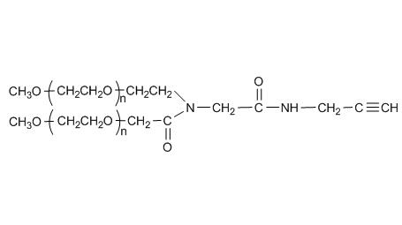 Y-shape PEG Alkyne