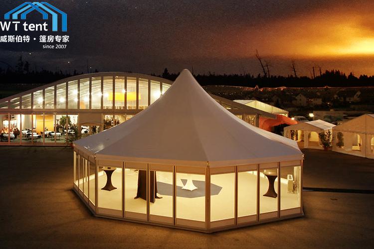 苏州威斯伯特多边形篷房租赁六边形户外酒店帐篷效果价格展示