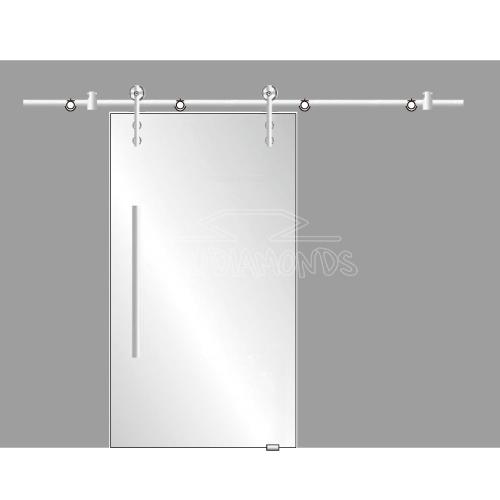 Stainless steel sliding door fittings
