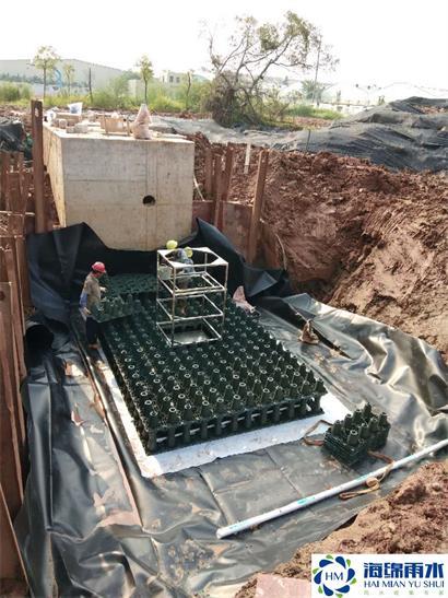 佛山_住宅小區雨水收集模塊水池安裝項目