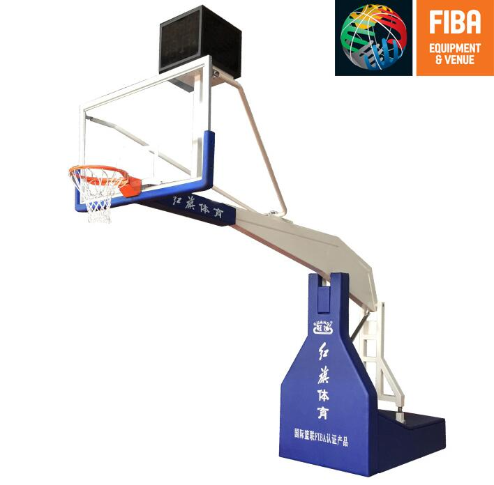 HQ-F10000 Electric hydraulic basketball stand with FIBA certificate