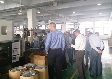 International well-known swimming pool pump manufacturer SP company visited our company