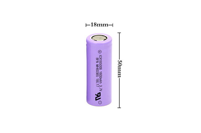 BFN 性能好绿色环保锂离子电池 18500 1600mAh