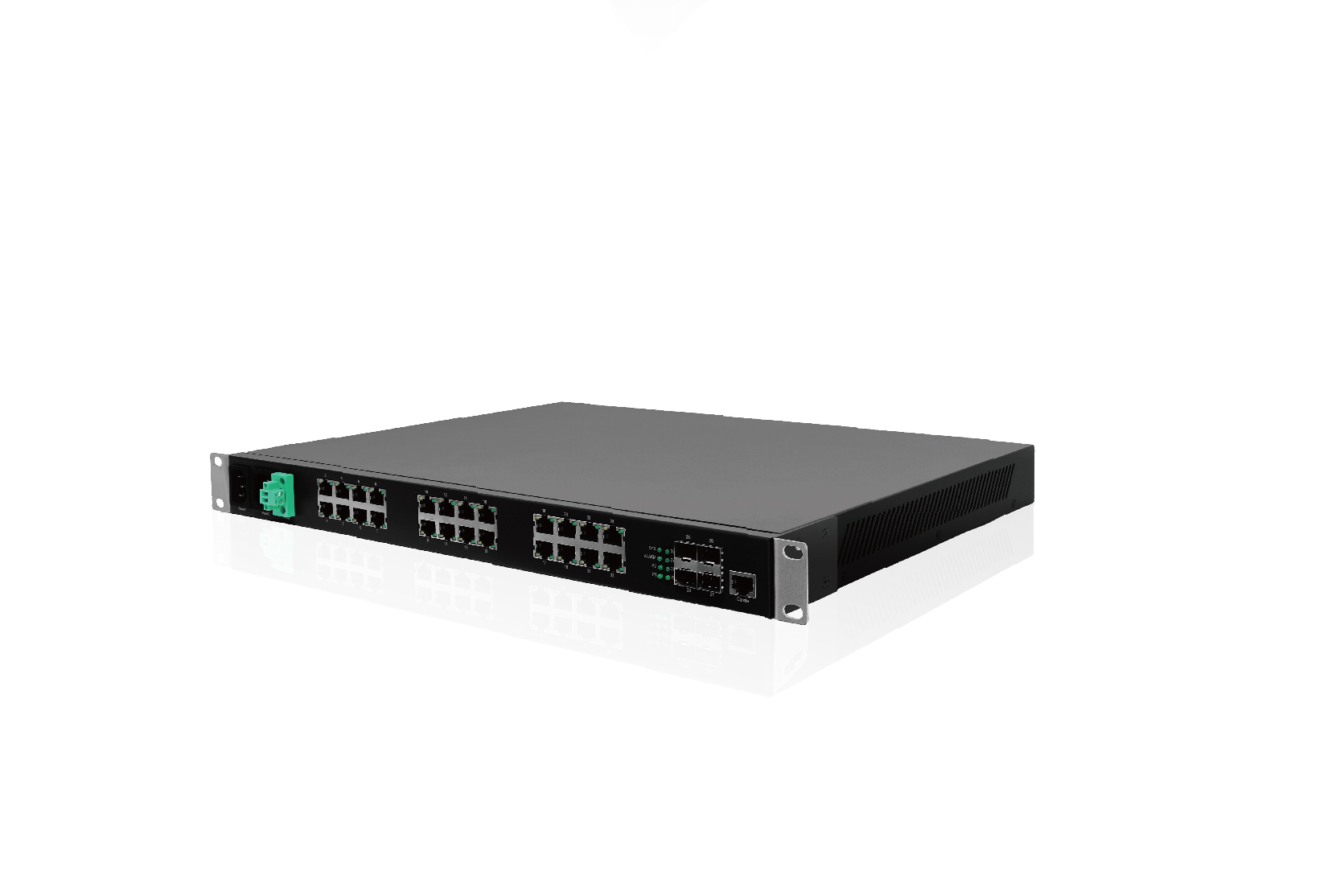 Rack type industrial grade network management switch