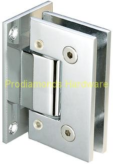 90° Glass-to-Wall Adjustable Hinge with Offset Back Plate