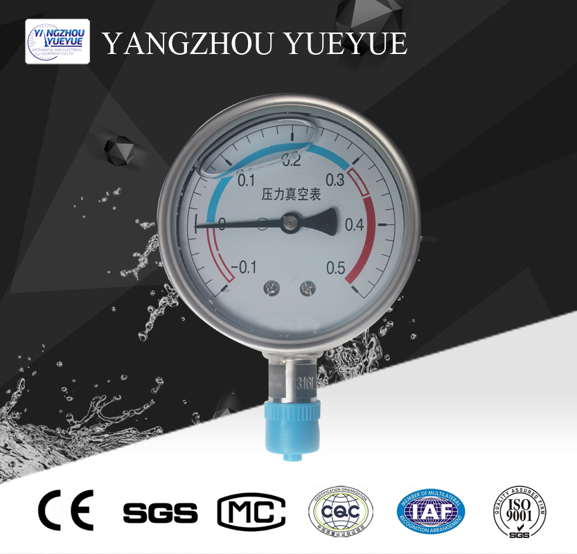 100mm liquid filled pressure gauge(lower mounting with intergrated welding)