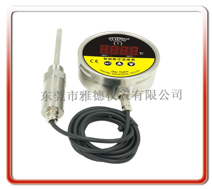 100mm徑向全不銹鋼分體式軟線連接智能數顯溫度控制表