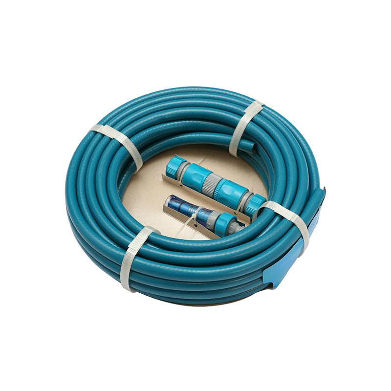50FT Garden Hose with Plastic Quick Connector and Plastic Spray Nozzle