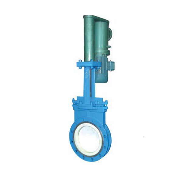 Electro hydraulic ceramic knife gate valve