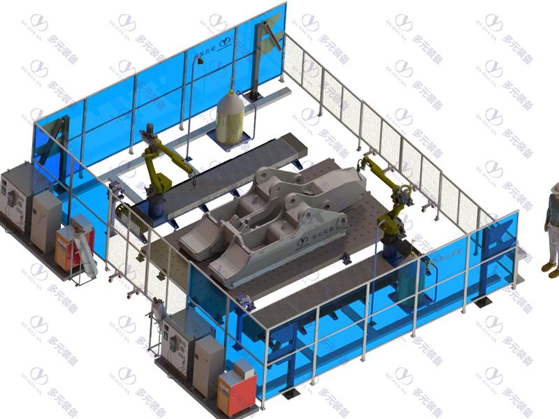 煤礦機械行業:液壓支架底座焊接工作站