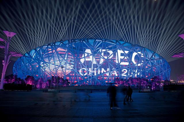 北京鸟巢国家体育场APEC 会议网幕工程