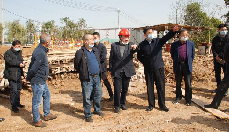 集團公司領導檢查調研長江大堤備汛工程項目