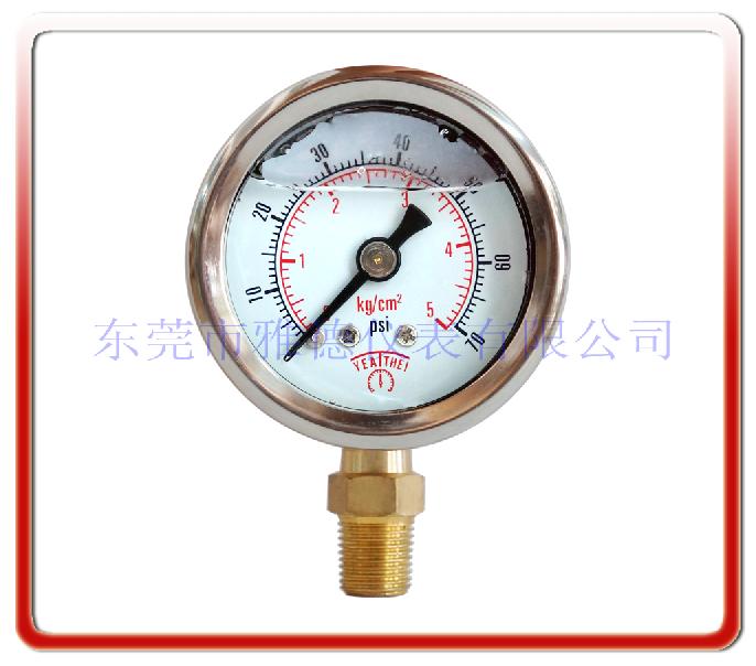 40MM徑向耐震油壓表