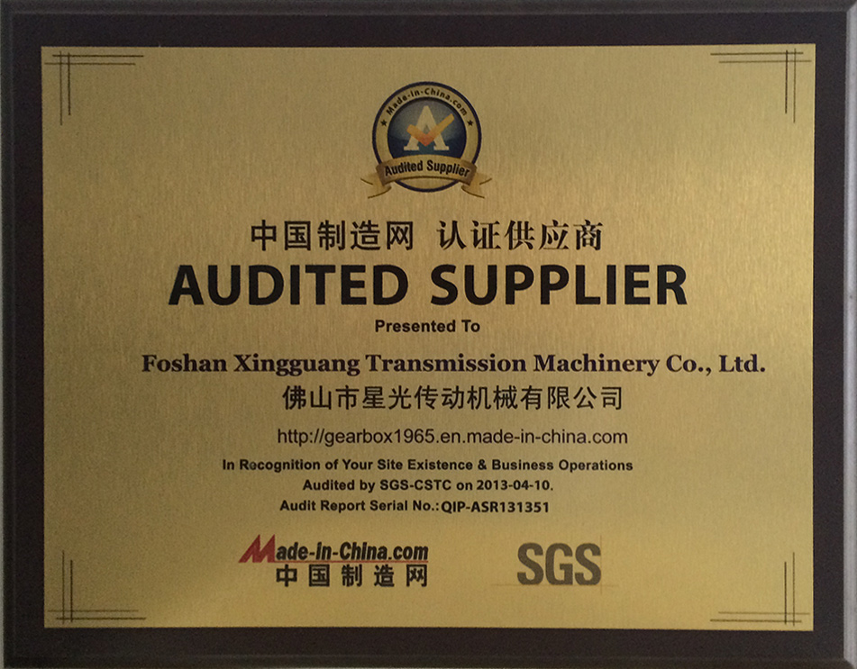 Certified supplier of made-in-china network