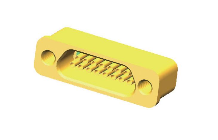 玻璃燒結氣密封矩形電連接器