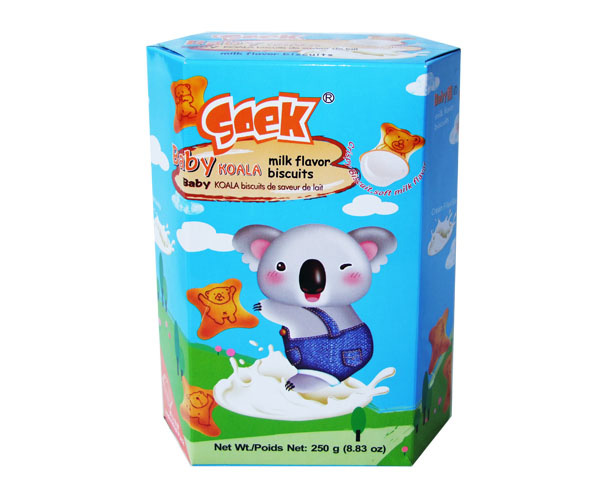 Baby Koala Cream Filled Biscuits Milk Filling 250gX12boxes 55X33X23cm