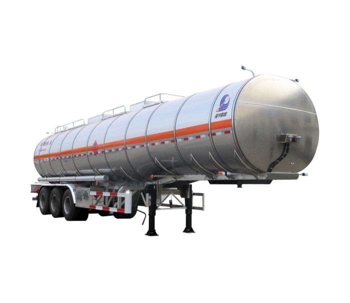 Aluminum alloy flammable liquid tanker semi-trailer