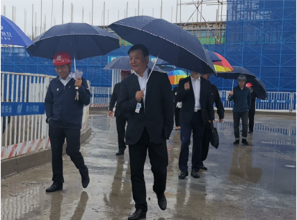 集團公司在北京新機場項目組織現場觀摩會