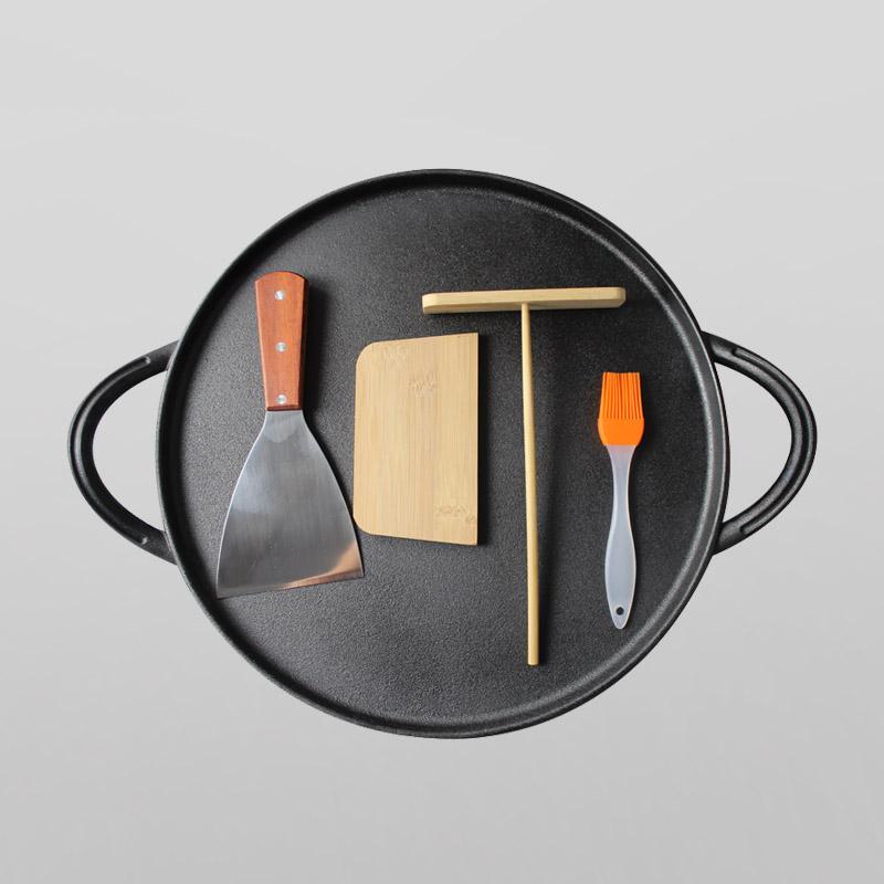 Pre-seasoned cast iron non-stick pancake pan