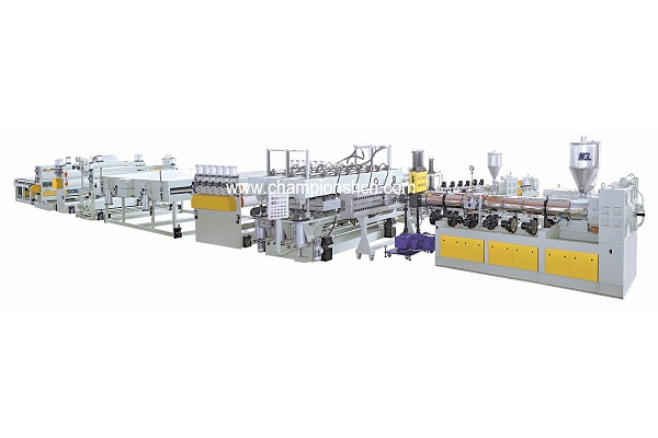 PC/PP/PE hollow sheet extrusion line