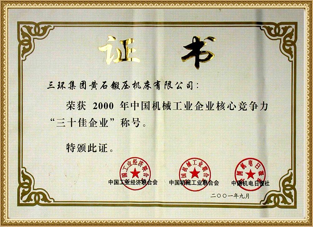 三十佳2001