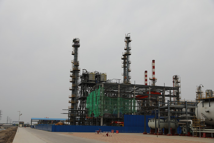 Report on construction progress of light hydrocarbon recovery site