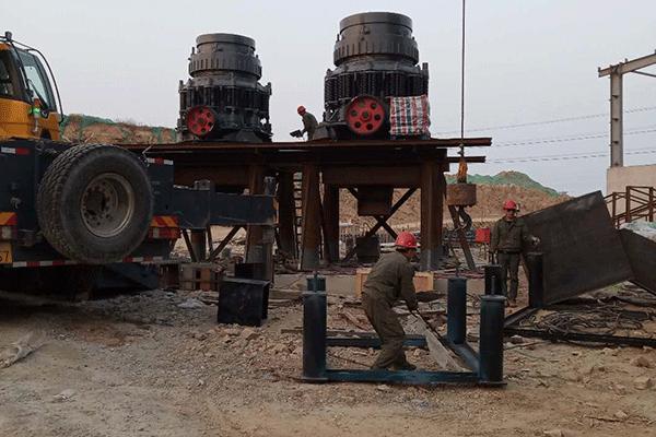 山東煙臺300噸每小時花崗巖破碎篩分生產線
