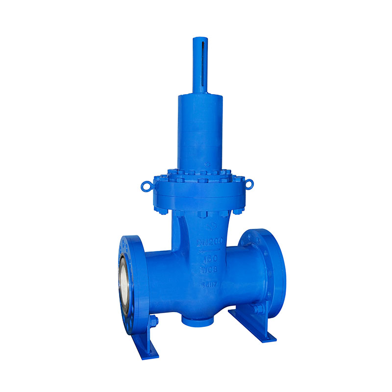 Hydraulic high pressure ceramic gate valve