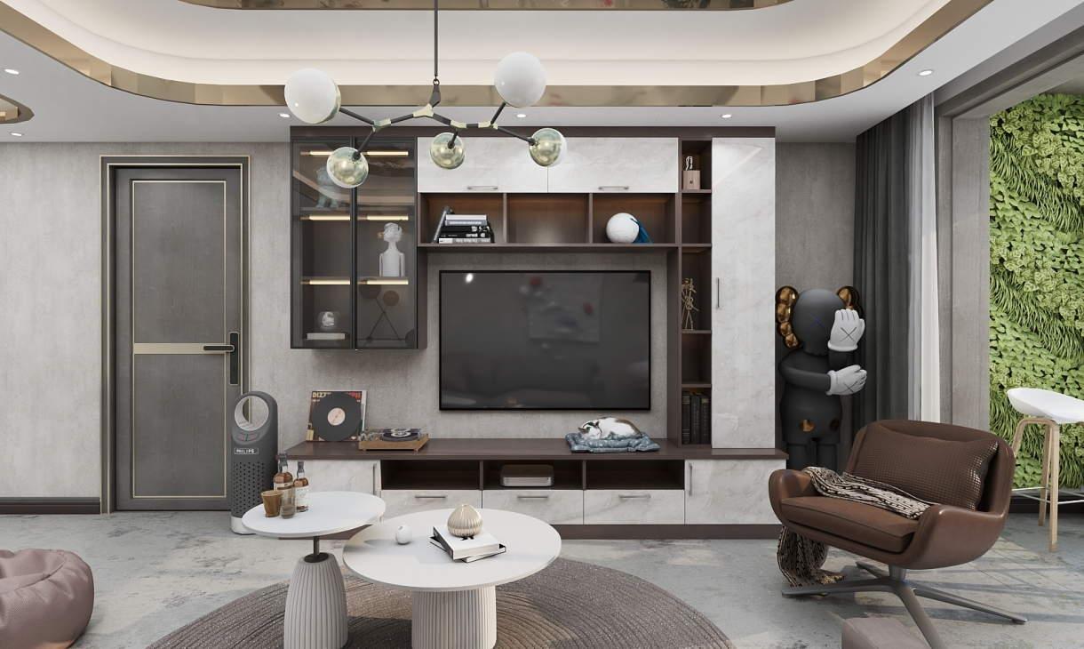77㎡輕奢三居室,玄關陽臺一個不少,這設計絕了!