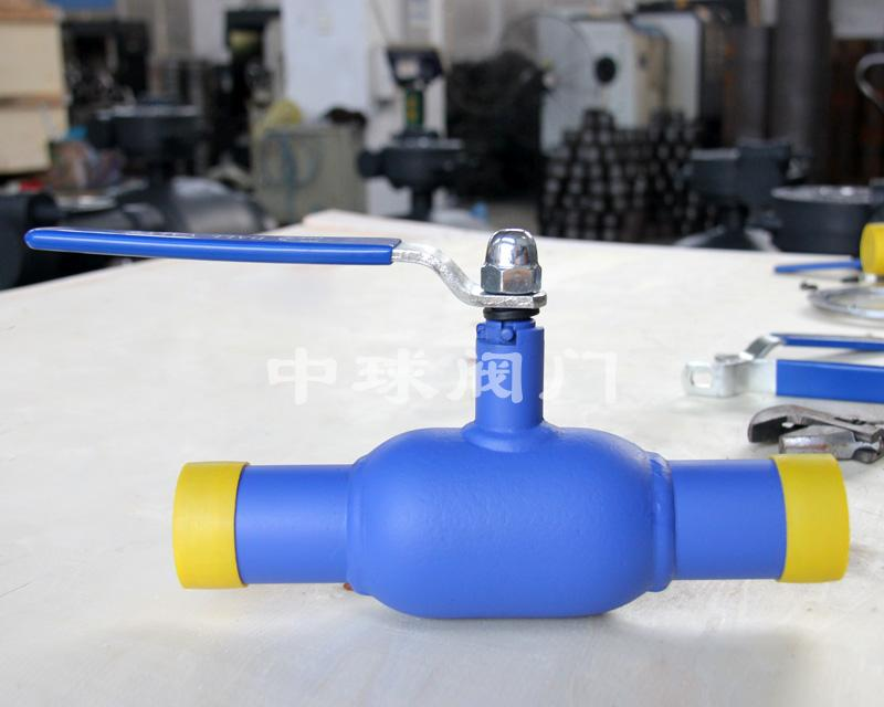 Handle type fully welded ball valve Q61F DN40