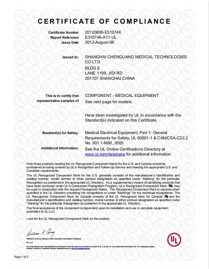 UL E310746-A11 CoC