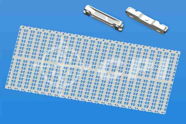 LED020十六排支架白膠杯深0.30總高1.0   (16X24)   (P02331B)