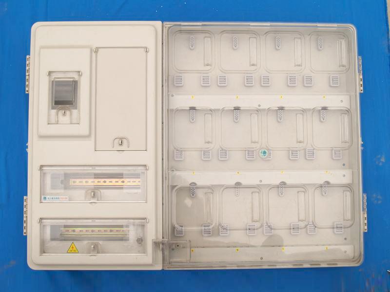 透明PC左右機構帶采集12戶電表箱