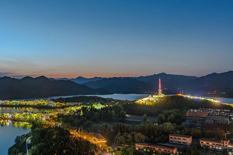 北京怀柔城区及联络线周边