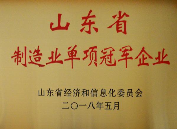 山東省制造業單項冠軍企業