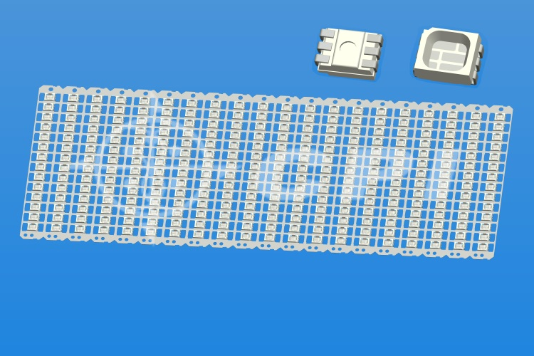 LED3528十四排一字型六腳反向杯深0.84總高1.8    (14X20)   (P00631A)