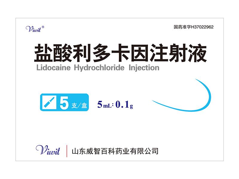 鹽酸利多卡因注射液 5ml:0.1g