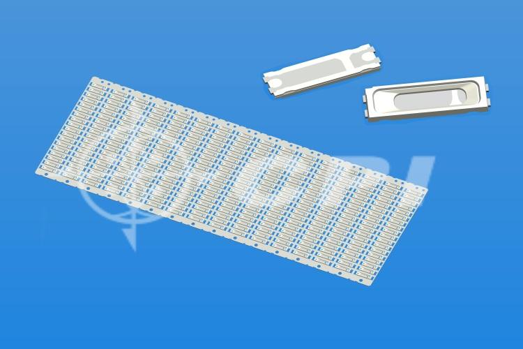 LED7020十八排支架白膠長方杯杯深0.55總高0.8杯口有斷差   (18X16)    (L06731A)