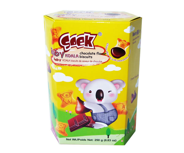 Baby Koala Cream Filled Biscuits Chocolate Filling 250gX12boxes 55X33X23cm