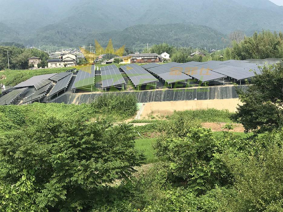 東西南北傾斜地面太陽能支架-奈良御所市西持田-898kw