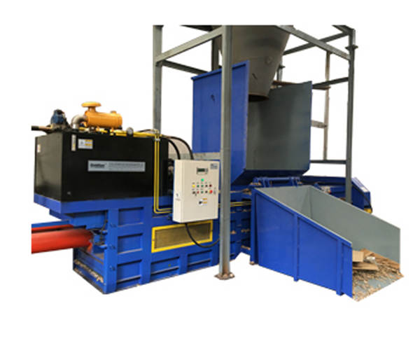 Bucket type semi-automatic paper baler