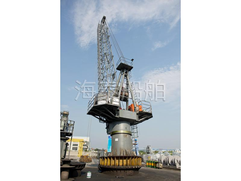Semi - submersible with hydraulic truss arm crane