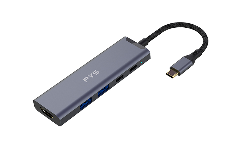 USB C to 2*USB A +USB C+HDMI+SD+TF  Multiports Adapter
