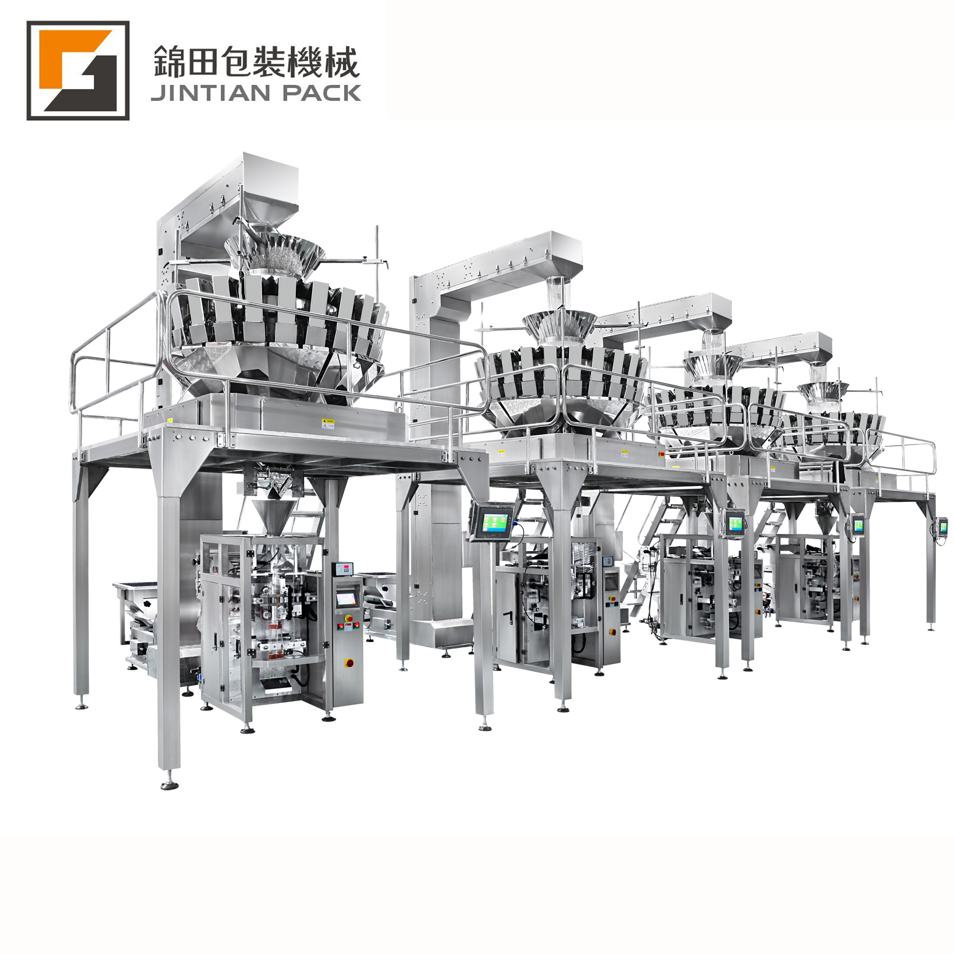 JT-520VW High speed automatic packing line with multihead weigher