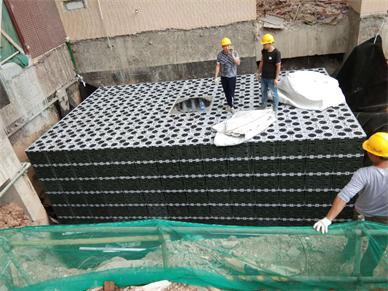 深圳_龍崗雨水收集利用系統模塊水池項目工程