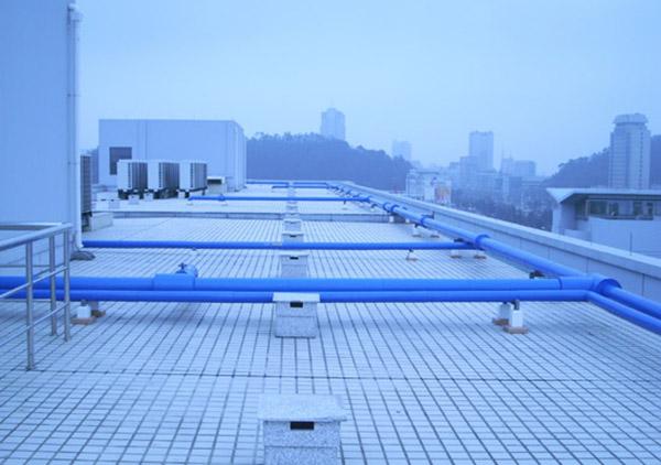 台州市档案馆屋面消防管道