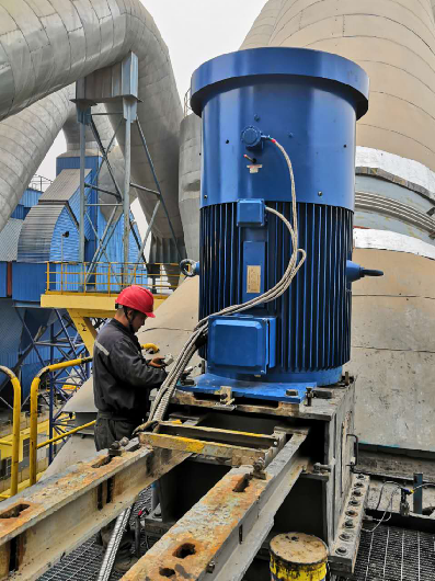 Permanent Magnet Motor for separator in a cement plant