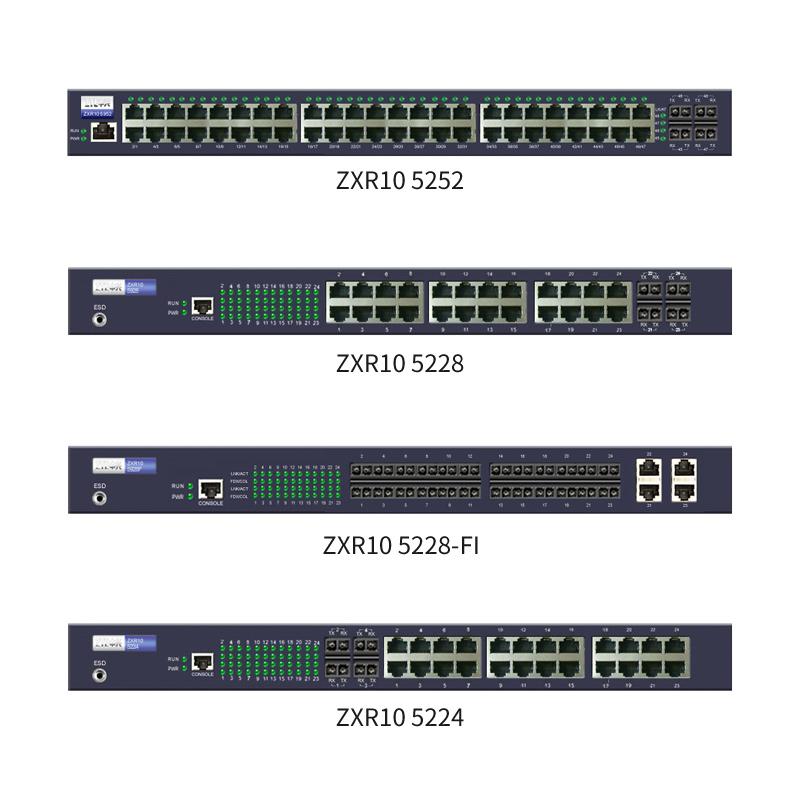 ZXR10 5200系列全千兆智能路由交换机