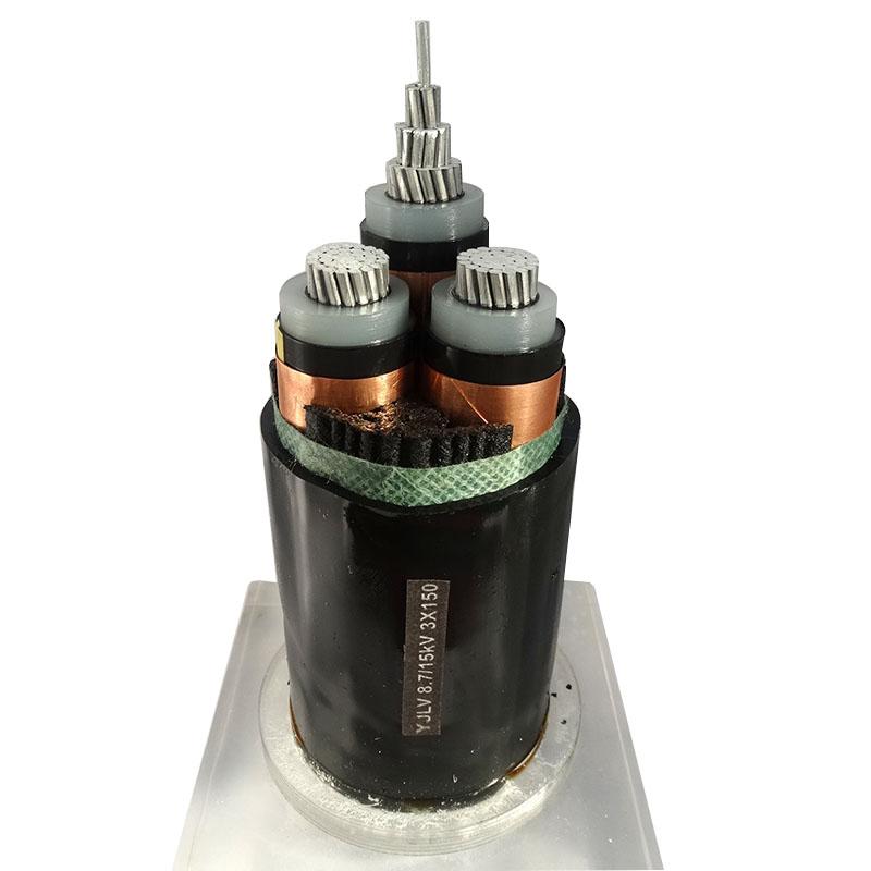 10KV电力电缆YJLV 8.7/15kV 3X150