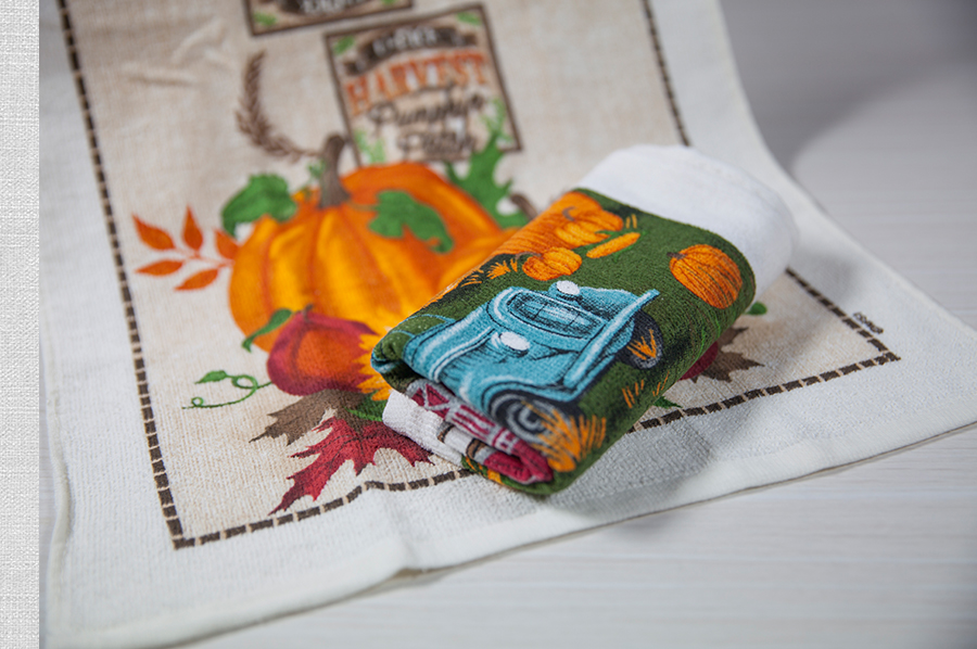 涂料印花巾